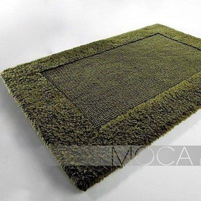 Dywanik łazienkowy Moca Design - Frame - zielony