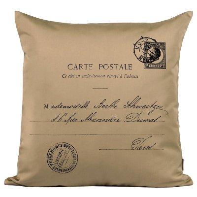Poduszka French Home - Carte Postale - beżowa