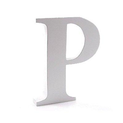 Litera dekoracyjna duża - P - biała