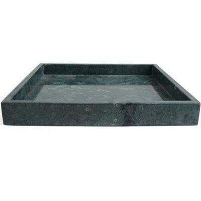 Taca marmurowa - zielona - 30x30 cm