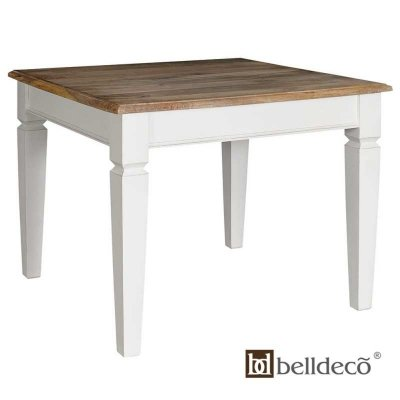 Stół Belldeco - Bristol White - biały kwadratowy