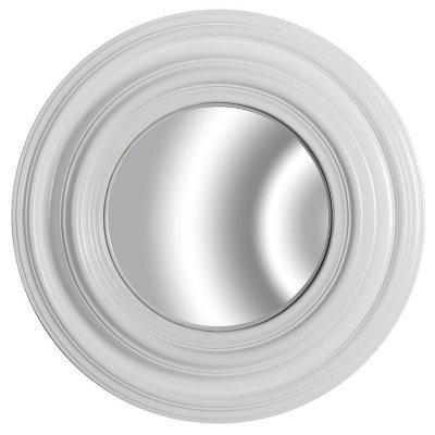 Lustro okrągłe - Belldeco Grigio - białe 2