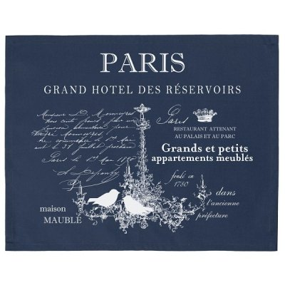 Serweta / podkładka French Home - Paris - granatowa