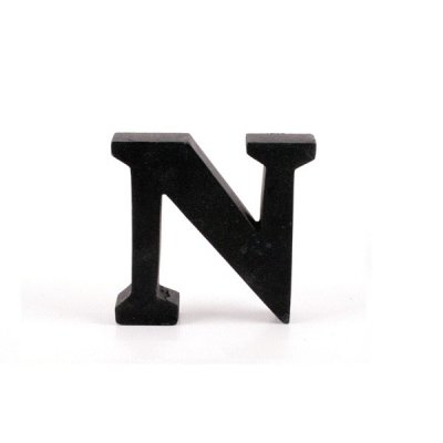 Litera ozdobna mała - N - czarna
