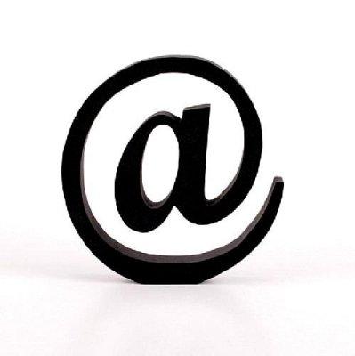 Znak dekoracyjny - @ - czarny 18 cm