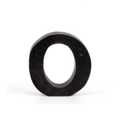 Litera ozdobna mała - O - czarna