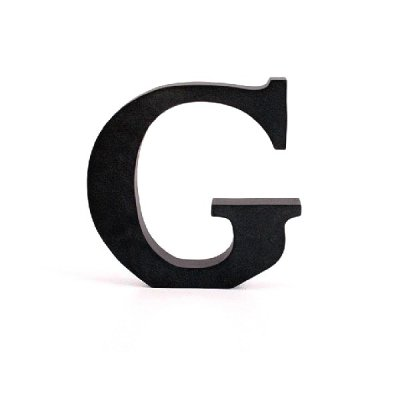 Litera ozdobna duża - G - czarna