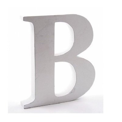 Litera dekoracyjna duża - B - biała
