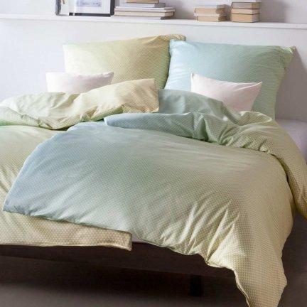 Pościel Estella mako-satyna - MIRO - błękitno-zielona