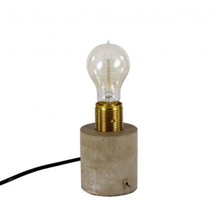 Lampa stołowa z betonu - Hunge