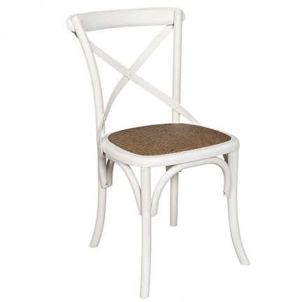 Poważne Białe krzesło Belldeco Bari w stylu retro - NieMaJakwDomu WD82