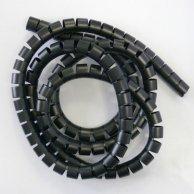 Spirala zgrzewająca + const, 15-50mm, czarna, 2m, (15mm pr.), Logo