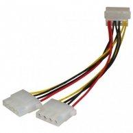 Kabel do dysku twardego rozgałęźnik, DC(5,25)-DC(5,25) 2x, M/F, 0.2m, No Name