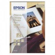 Epson Premium Glossy Photo Pa, foto papier, połysk, biały, Stylus Color, Photo, Pro, 10x15cm, 4x6, 255 g/m2, 40 szt., C13S042153