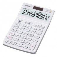 Casio Kalkulator JW 200 SC WE, biały, 12 miejsc, uchylny wyświetlacz, podwójne zasilanie