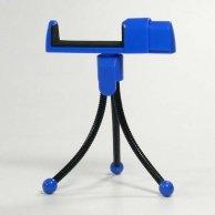Uchwyt telefonu komórkowego na stół, niebieski, termoplastyczny, Logo