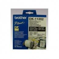 Brother etykiety papierowe 62mm x 100mm, biała, 300 szt., DK11202, do drukarek typu QL