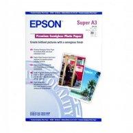 Epson Premium Semigloss Photo, foto papier, półpołysk, biały, Stylus Photo 1270, 2000P, A3+, 251 g/m2, 20 szt., C13S041328, atrame