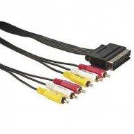 Audio/video kabel Scart-Cinch(6x), M/M 1.5m