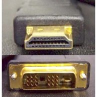 Video Kabel DVI(18+1)-HDMI, M/M3m, czarny, Logo, blistr
