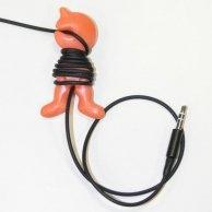 Uchwyt kabli, panáček, pomarańczowy, uchwyt kabla, No Name