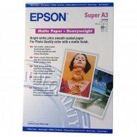 Epson Matte Paper Heavyweight, foto papier, matowy, silny, biały, Stylus Photo 1270, 1290, A3+, 167 g/m2, 50 szt., C13S041264, atr