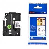 Brother taśma do drukarek etykiet, TZE-N221, czarny druk/biały podkład, nielaminowany, 8m, 9mm