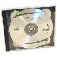 Box na 2 szt. CD, przezroczysty, czarny tray, Logo, 10,4 mm, 2-pack