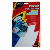 Logo etykiety na CD 78mm x 58mm, A4, matowe, białe, 8 etykiety, CD-R card, 140g/m2, pakowany po 10 szt., do drukarek atramentowych