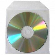 Koperta na 1 szt. CD, polipropylen, przezroczysta, z lepiącą klapką, No Name, opakowanie 100 szt, cena za 1 szt.