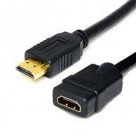 Audio/video kabel HDMI-HDMI, M/F3m, pozłacane końcówki, No Name