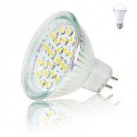 LED żarówka Inoxled MR16, 12V, 2W, 165lm, zimna biel, 60000h, ECO, 24SMD, 3528