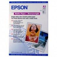 Epson Matte Paper Heavyweight, foto papier, matowy, silny, biały, Stylus Photo 1270, 1290, A3, 167 g/m2, 50 szt., C13S041261, atra