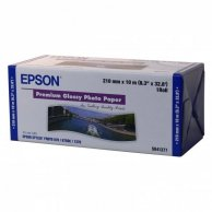 Epson 210/10/Premium Glossy Photo Paper Roll, 210mmx10m, 8, C13S041377, 255 g/m2, foto papier, połysk, biały, do drukarek atramen