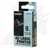 Casio taśma do drukarek etykiet, Casio, XR-9X1, czarny druk/przezroczysty podkład, nielaminowany, 8m, 9mm
