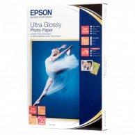 Epson Ultra Glossy Photo Pape, foto papier, połysk, biały, R200, R300, R800, RX425, RX500, 10x15cm, 4x6, 300 g/m2, 50 szt., C13S0