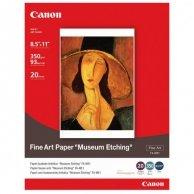 Canon, Fine Art Paper Museum Etching, biały, A4, 350 g/m2, 20 szt., do drukarek atramentowych, FA-ME1 A4