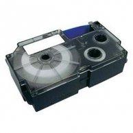 Casio taśma do drukarek etykiet, XR-6WE1, czarny druk/biały podkład, nielaminowany, 8m, 6mm