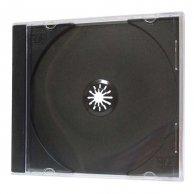 Box na 1 ks CD, černý, tenký, No Name, 5,2mm, 50-pack