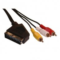 Audio/video kabel Scart-Cinch(3x), M/M 5m