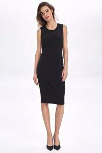 Klasyczna sukienka bez rękawów - czarny - CS50