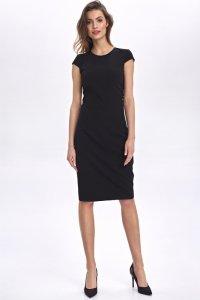 Sukienka z dekoltem na plecach - czarny - CS49