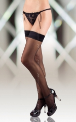 Stockings 5513 - black pończochy