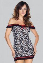Sukienka mini 6668 leopard