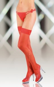 Stockings 5513 - red pończochy