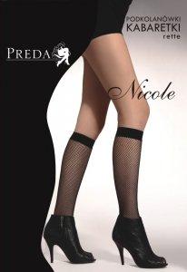 Podkolanówki kabaretki Nicole 2 pary