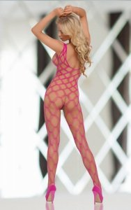 She-cat - Neon Pink 6254 bodystocking