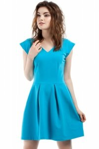 MOE210 sukienka turkusowa