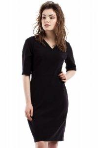 MOE215 Sukienka czarna