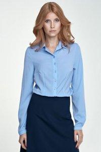 Delikatna bluzka - błękit - B70